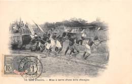 Côte D' Ivoire / Ethnic H - 110 - Mise à Terre D'une Bille D'acajou - Belle Oblitération - Côte-d'Ivoire