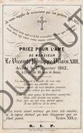 Doodsprentje Vicomte/Burggraaf Philippe Vilain XIIII °1845 †1862 (Gent - Aalst) (F228) - Obituary Notices