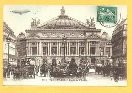 """Carte Postale En Noir Et Blanc """" Tout Paris,Place De L'Opéra """" à PARIS - Places, Squares"""