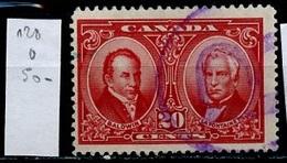 Canada - Kanada 1927 Y&T N°128 - Michel N°126 (o) - 20c Balwin Et Lafontaine - 1911-1935 Règne De George V