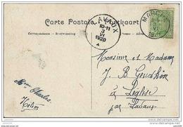 LEGLISE ..-- MARCHE - EN - FAMENNE ..-- Ecole Moyenne De L' Etat . 1920 Vers LEGLISE ( Mr Mme GEUDKIN ) . Voir Verso . - Léglise