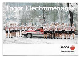 CARTE CYCLISME GROUPE TEAM FAGOR 1987 - Radsport