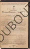 Doodsprentje Nicolas-Modeste Colruyt °1839 Lembeek †1991 Brussel Echtg. Colette Solliez (F229) - Obituary Notices