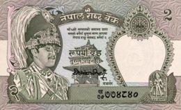 Nepal 2 Rupees, P-29c - UNC - Signature 12 - Nepal