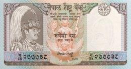 Nepal 10 Rupees, P-31a - UNC - Signature 12 - Nepal