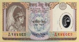 Nepal 10 Rupees, P-45 (2002) - UNC - Népal