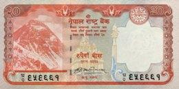 Nepal 20 Rupees, P-62 (2008) - UNC - Népal