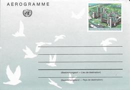 Onu, United Nations, Nations Unies,vienne, Entier Postal 1992, Aérogramme Neuf, 12s, Palais Des Nations, Colombes - Centre International De Vienne