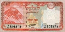 Nepal 20 Rupees, P-78 (2016) - UNC - Népal