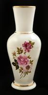 Aquincumi Rózsás Váza, Kézzel Festett, Jelzett, Apró Kopásokkal, M: 27,5 Cm - Céramiques
