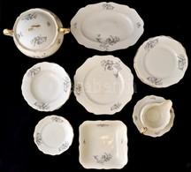 Drasche Hiányos étkészlet, Matricás, Jelzett, Kopott, összesen: 22 Db - Céramiques