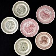 Ironstone Hiányos Tányér Készlet, Levonó Képes(Old Country Castles), Jelzett, Kopott, D: 22,5-28 Cm, összesen: 22 Db - Céramiques