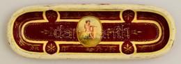 Antik Angyalos Kis Tálka, Kézzel Festett, Kopott, Jelzés Nélkül, 17×5,5 Cm - Céramiques
