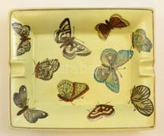 Becara Pillangós Hamutartó, Jelzett, Apró Kopásokkal, 19×16×3,5 Cm - Céramiques