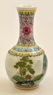 Jelzett Kézzel Festett Kínai Váza, Hibátlan, M: 17 Cm - Céramiques