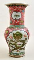 Jelzett Kínai Sárkányos Váza, Kézzel Festett, Jelzett, Hibátlan, M: 42 Cm - Céramiques