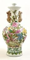 Jelzett Kínai Váza, Kézzel Festett, Hibátlan, Apró Máz Hibákkal, M: 41 Cm - Céramiques