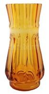 Haida (cca 1910) Váza, Formába Fújt, Jelzés Nélkül, Nagyon Apró Csorbával, M: 34 Cm / Haida Checz Vase, Very Small Crack - Verre & Cristal