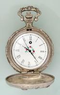 Vadász Jelenetes Modern Mechanikus Zsebóra Jól Méködő állapotban D:4,5 Cm - Jewels & Clocks