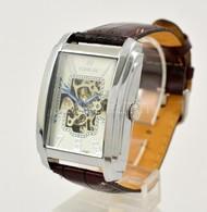 Goer Automata Karóra, Bőr Szíjjal. Újszerű állapotban 4x4,5 Cm - Jewels & Clocks