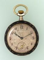 Niellós, Dupla Ezüst Hátsó Fedelű Zsebóra, Jól Működő állapotban D: 5 Cm - Jewels & Clocks