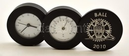 Ball Kihajtható Elemes óra Hőmérővel, Dobozban, Nem Kipróbált - Jewels & Clocks