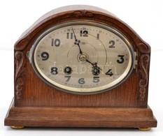 Haller AG. Felesütős Asztali óra. Az órarész Működik, Az ütős Részen Egy Rugó Szakadt. Felhúzókulccsal 23x19 Cm / Table  - Jewels & Clocks
