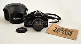 Cca 1982 Nikon FG Filmes SLR Fényképezőgép, Nikkor 50mm F/1.8 Objektívvel, Eredeti Bőr Tokjában, Miranda Skylight Szűrőv - Appareils Photo