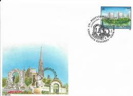 Onu, United Nations, Nations Unies,vienne, Entier Postal 1995, Env Fdc, 6s, Palais Des Nations, Cheval, Grande Roue - Centre International De Vienne