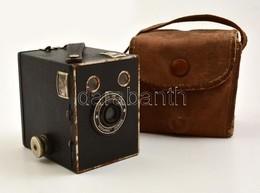 Cca 1935 Kodak Eastman Super Six-20 Brownie Junior Box Fényképezőgép, Eredeti Vászon Tokjában, Működőképes állapotban /  - Appareils Photo