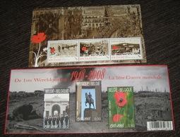 Blok 162** 3842/44** Blok 1ste Wereldoorlog 1914/1918 / Première Guerre Mondial + Tegenhanger Uit New-Zealand! - Blocks & Sheetlets 1962-....