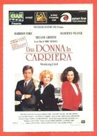 CINEMA-CARTOLINA MANIFESTO FILM-UNA DONNA IN CARRIERA-MELANIE GRIFFITH-HARRISON FORD-SIGOURNEY WEAVER - Manifesti Su Carta