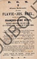 Doodsprentje Flavie -Jos. Noël °1822  Mouscron †1870 Epouse De François-Aimé Petit (F236) - Obituary Notices