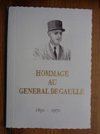 FDC ENCART DE LUXE HOMMAGE AU GENERAL DE GAULLE 1890-1970 - De Gaulle (General)
