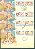AUSTRALIA  - FDC - 22.2.1984 - 50th ANNIVERSARY OFFICIAL AIRMAIL AUSTRALIA NZ  - Yv 848-849 - Lot 18664 - VARIOUS CANCEL - Premiers Jours (FDC)