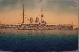Old Postcard S.M.S Radetzky War Ship Austria 1915. - Weltkrieg 1914-18