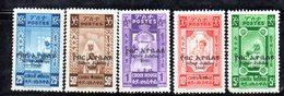ETP87 - ETIOPIA 1960 , Yvert  N 354/358  ***  MNH. CROCE ROSSA - Ethiopia