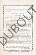 Doodsprentje Antonius Swaegers °1809 Meir Antwerpen †1882 /ww Joanna Verschueren  (F237) - Obituary Notices