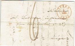 LAC  Du  3/12/1847 De YPRES Naar LIEGE H. DESSAIN Drukker - Getekent LAMBIN VERWAERT Drukker Te IEPER - 1830-1849 (Belgique Indépendante)