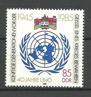 Germany DDR 1985 Michel 2982 UNO UN MNH - ONU