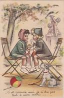 Bp - Rare Cpa Illustrée Germaine Bouret (avec Ajoutis, Paillettes) - C'est Comme Moi, Je N'dis Pas Tout à Mon Mari - Bouret, Germaine