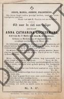 Doodsprentje Anna Catharina Luckermans °1808 Mechelen †1883 Mechelen  (F238) - Obituary Notices