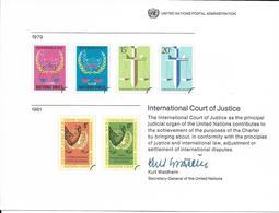Onu, United Nations,  Entier Postal New York, Genève 1979, Cour Internationale De Justice, Balance, Kurt Waldheim - Emissions Communes New York/Genève/Vienne