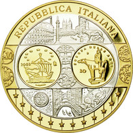 Italie, Médaille, L'Europe, L'Italie, FDC, Argent - Other