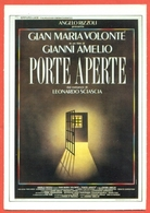 CINEMA-CARTOLINA MANIFESTO FILM-PORTE APERTE-GIAN MARIA VOLONTE'-ENNIO FANTASTICHINI - Manifesti Su Carta