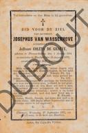 Doodsprentje Josephus Van Wassenhove °1804 Nieuwerkerken †1876 Haaltert /Echtg. Coleta De Graeve (F243) - Obituary Notices