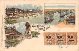 Egypte / Topo - Belle Oblitération - 61 - Greetings From Port Said - Belle Oblitération - Egypte
