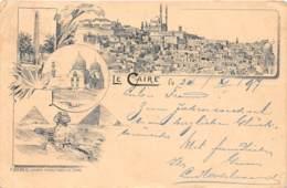 Egypte / Topo - Belle Oblitération - 62 - Le Caire - Beau Cliché Précurseur 1897 - Défaut - Egypt