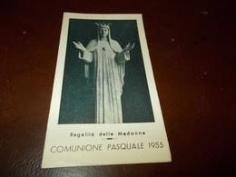 B703  Santino Comunione Pasquale 1955 - Images Religieuses