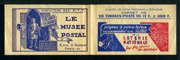 Carnet GANDON N° 886 - Couverture Vide -  Série Loterie-Musée Postal- Nombreux Thèmes. - Booklets